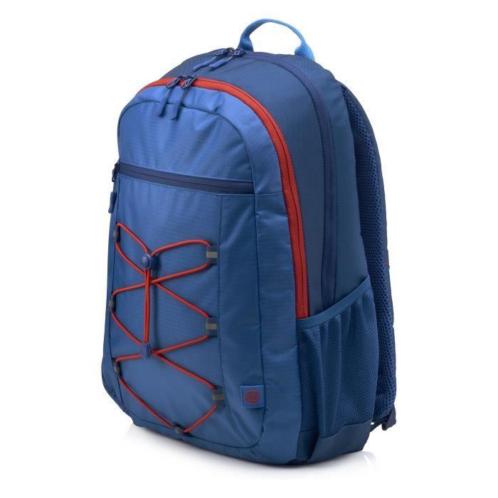 """HP Sac à dos pour ordinateur portable Active Backpack - 15.6"""" - Bleu Marine et Rouge Corail"""