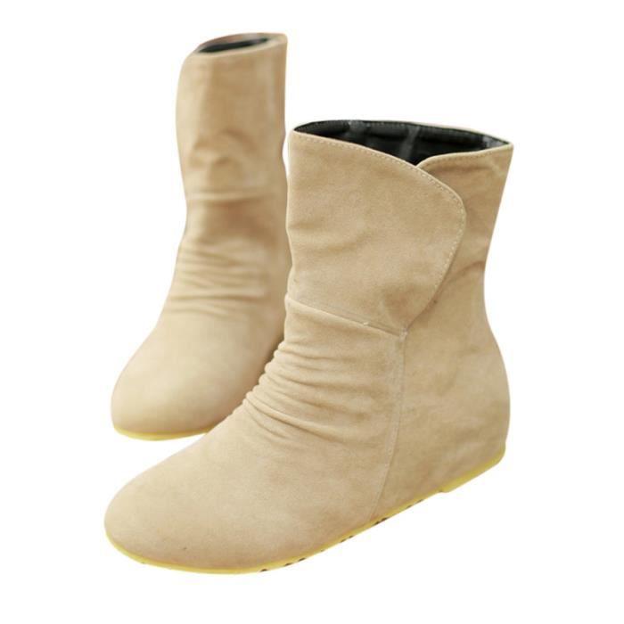 HEE GRAND Femme Fille Boots duveteux léger plat... nEBH9