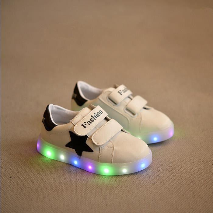 LED Chaussure Enfant Pu élégant LED Glowing Nui...