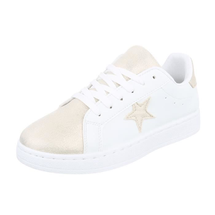 Chaussures femme chaussures sportSneakers Chaussures de sport blanc or 41