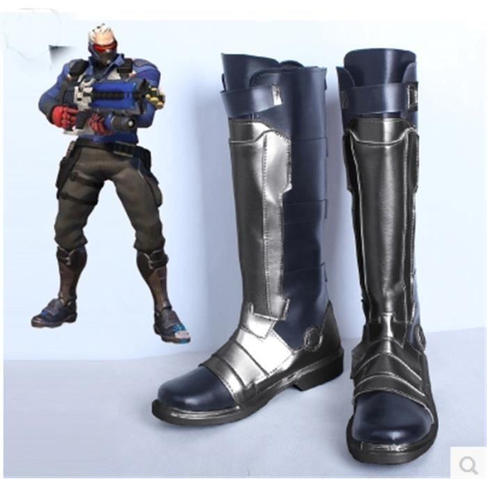 Déguisement Bottes Overwatch Soldat 76 Cosplay Shoes Boots Gris Gris - Achat / Vente botte  - Soldes* dès le 27 juin ! Cdiscount