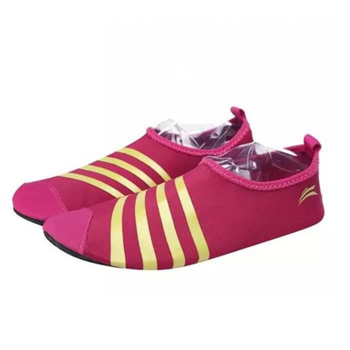 Chaussure Homme été Eau Chaussures Antidérapant Plage Slip Sur Parc Aquatique Sandales Ultra léger Respirant Confortable Taille 44