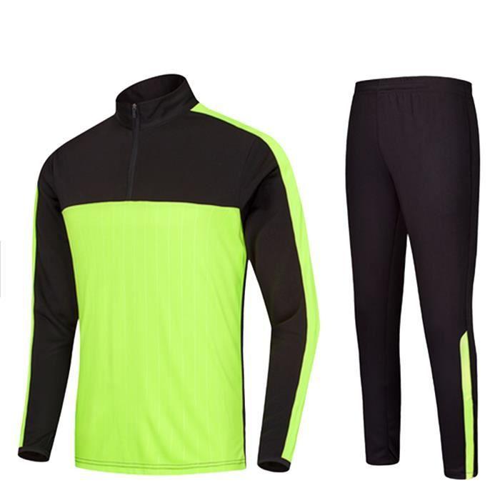 4646dcf2dc30 Survetement - Jogging De Sport - NPZ - Survêtement de foot sportwears  enfant noir et jaune fluo