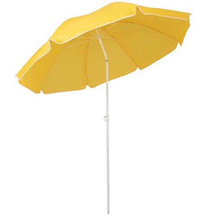 Parasol centrée couleur jaune pour plage, jardi…   Achat / Vente