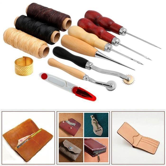 Fournitures de couture Accessoires de couture , outil de couture de piquage  a la main pour le metier en cuir 1 ensemble (14 Pieces) 36c6685898d