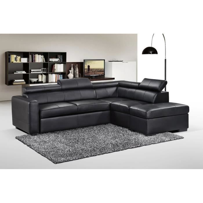 canap sofa divan canap dangle convertible pu avec pouf multifonct - Canape Avec Pouf Integre