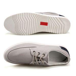 Chaussures En Toile Hommes Basses Quatre Saisons Durable FXG-XZ132Gris41 3XnlBzdY