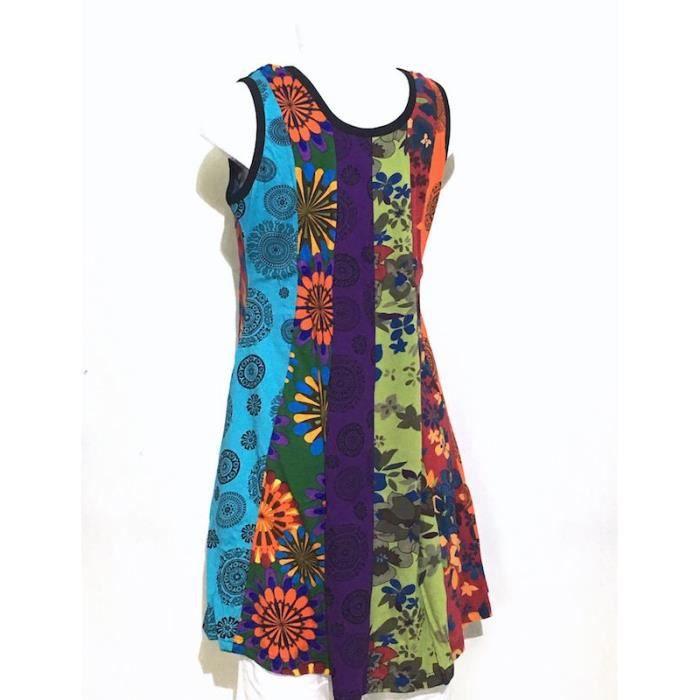 Robe Tunique Patchwork SD-93 multicolore Taille 40/42- Multicolore