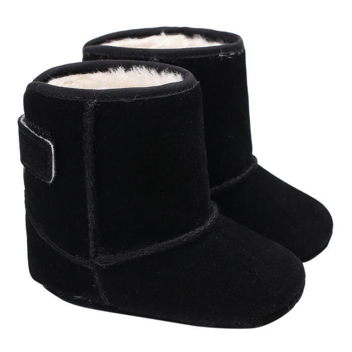 BOTTE Bébé fille garçons doux semelle bottes bottes de neige infantile bambin nouveau-né réchauffement chaussures@Noir