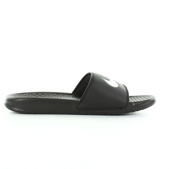 f816c88a4d0 Nike - Benassi swoosh homme Noir et blanc- Achat   Vente Nike - Benassi  swoosh Homme pas cher - Cdiscount