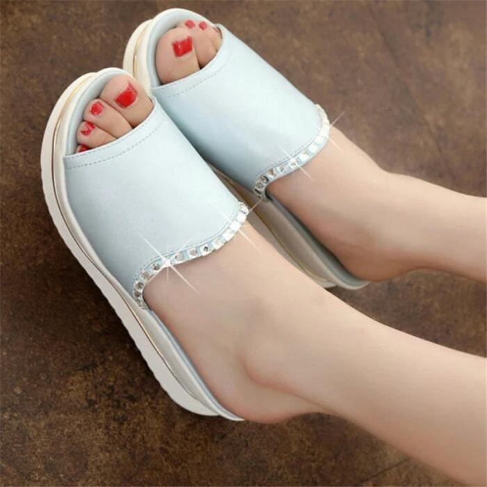 chaussures d'été hauteur croissante Grande Taille Confortable Nouvelle arrivee meilleure qualité de luxe femme branché plein air C0R37Y