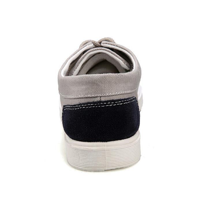 Chaussures En Toile Hommes Basses Quatre Saisons Casual BZH-XZ112Gris40 E7A6VHisk