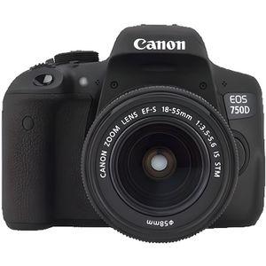 CANON EOS 750D Appareil Photo Numérique Reflex 24 MP + Objectif 18-55 mm IS STM