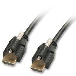 LINDY Câble Premium HDMI? compatible HDMI 2.0 Ultra HD avec Ethernet & 2x verrous type A / A 1m