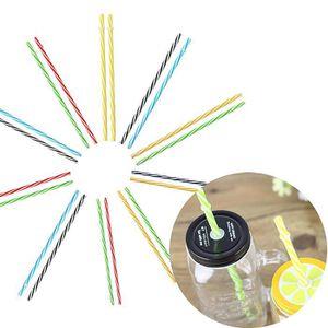 PAILLE 20pc coloré réutilisable en plastique dur rayures