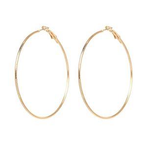 Boucles d oreilles bijou créoles dorées 4.5 cm - Achat   Vente ... 27760baa19cf