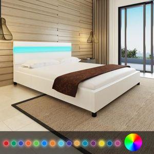 structure de lit 160x200 achat vente structure de lit. Black Bedroom Furniture Sets. Home Design Ideas