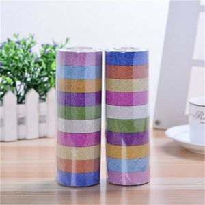 MASQUAGE - MASKING TAPE 10 x paillettes papier Washi adhésif artisanat bri