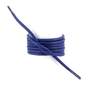 LACET  lacets ronds épais 3mm coton ciré couleur bleu kin