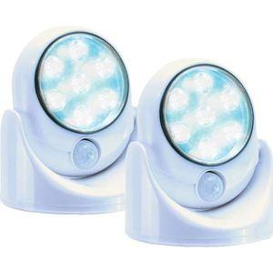 LAMPE A POSER Lot de 2 Lampes 7 LEDS sans fil avec détecteur de
