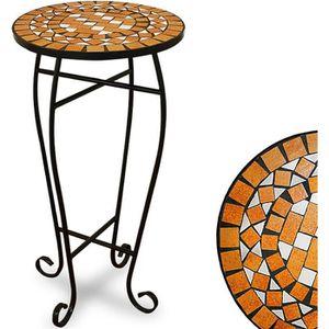 TABLE D'APPOINT Table guéridon pot de fleur mosaique design Ger…