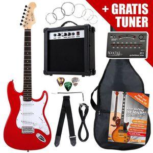 GUITARE Rocktile ST Pack guitare électrique rouge en SET i