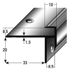 RAMPE - MAIN COURANTE 5 x 2,5 mètres Stratifié-Nez de marche - cornière