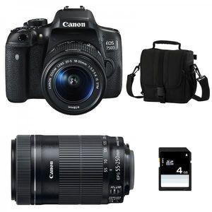 APPAREIL PHOTO RÉFLEX CANON EOS 750D + Objectif EF-S 18-55 mm f/3,5-5,6