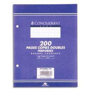 FEUILLET MOBILE Copies doubles - A4 - perforées blanches - Gran…