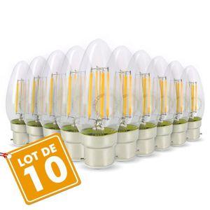 AMPOULE - LED Lot de 10 Ampoules Flamme Filament 4w eq. 40W Culo