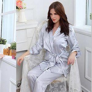 PYJAMA Nouveau à manches longues en soie pyjama de soie d