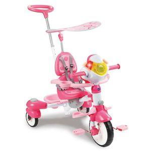 PORTEUR - POUSSEUR VTECH Super Tricycle Interactif 6 En 1 Rose