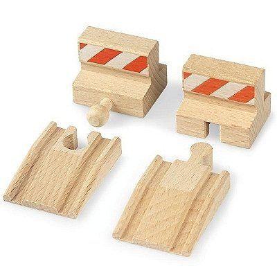 BRIO World - 33385 - Lot De 2 Rampes Et 2 Butoirs - Jouet en bois