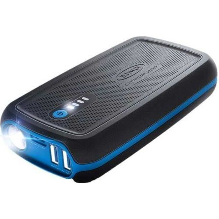 RING Booster démarreur rechargeable 12 V - Lithium 300 - 1300 mAh - USB - LED
