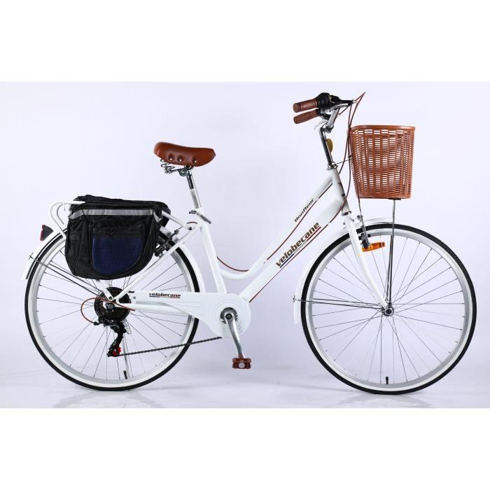 Velobecane Honfleur Vélo de ville Blanc
