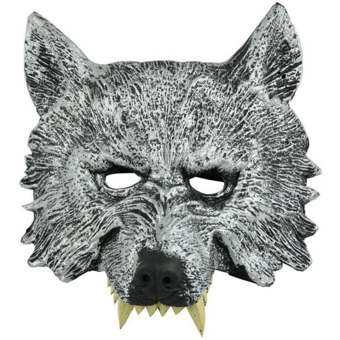 masque de loup pour adulte t te de loup masque d 39 animal latex masque de loup masque animal. Black Bedroom Furniture Sets. Home Design Ideas