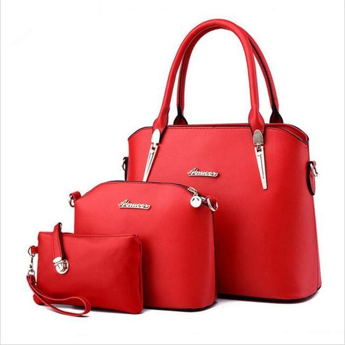 Nouvelles Arrivées 8c1a5 1d8e0 sac femme rouge Sac à bandoulière femme 2018 nouveau sac de mode Sac de  qualité supérieure,