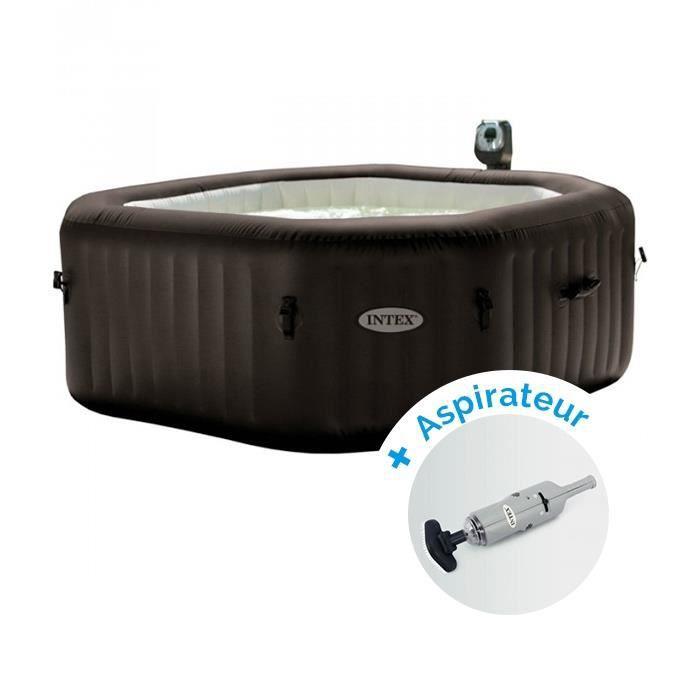 pack spa gonflable intex pure spa jets et bulles 6 personnes aspirateur nettoyeur batterie. Black Bedroom Furniture Sets. Home Design Ideas