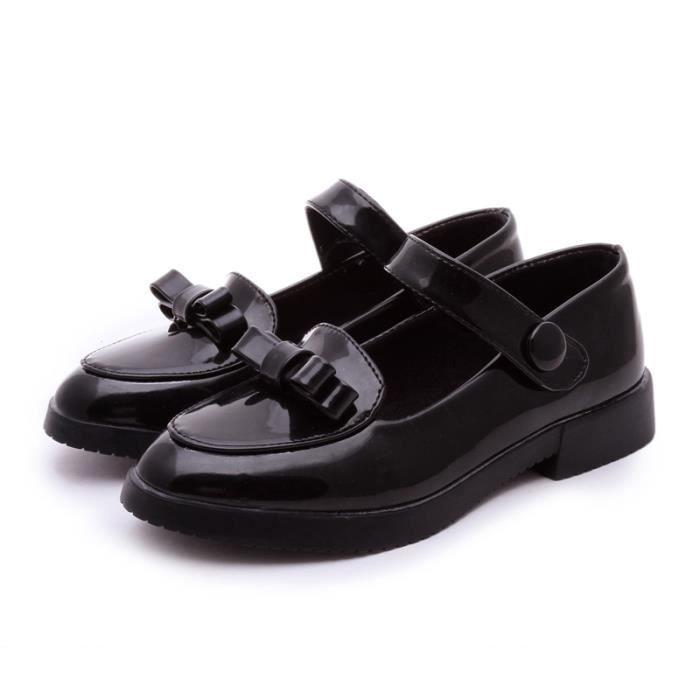 Flat Noir Mocassin Chaussure Fille Pour Enfant Achat Iztpserg 46EBqYwn