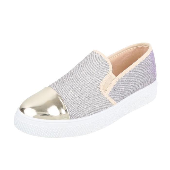 Chaussures femme flâneurs mocassin gris clair 41 ScbjbcK
