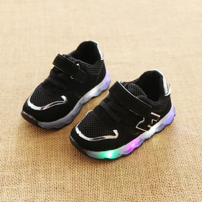 chaussures LED pour enfants les enfants ont conduit lumières baskets pour filles Garçon Bébé