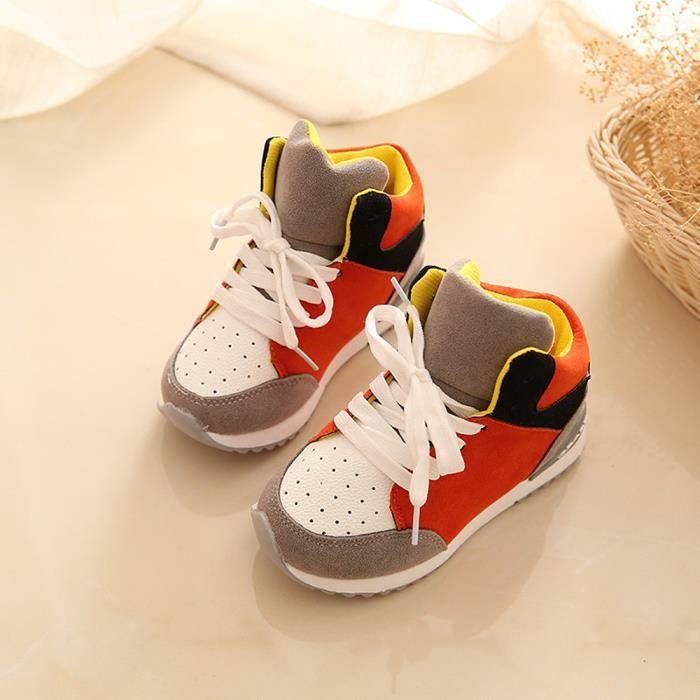 68224de54a5c6 BOTTE Sport Chaussures de course Garçons Enfant Printemps Filles Enfants  Chaussures Pédales Sneakers OrangeHM