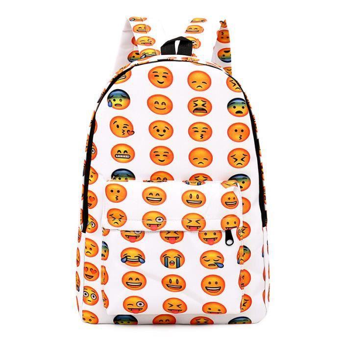 Ecole Sac à dos Student Toile Emoji Sac à dos mignon Sacs à dos pour enfants