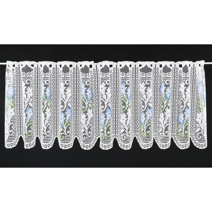 RIDEAU Rideaux Brise-bise avec de la Gentiane 45 cm de Ha