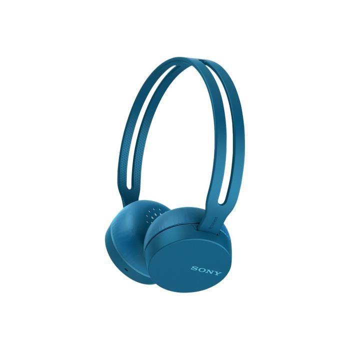 Sony Wh-ch400 Casque Avec Micro Sur-oreille Bluetooth Sans Fil Nfc* Bleu