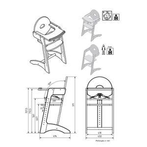 Chaise haute enfant bois achat vente pas cher - Chaise haute filou geuther ...