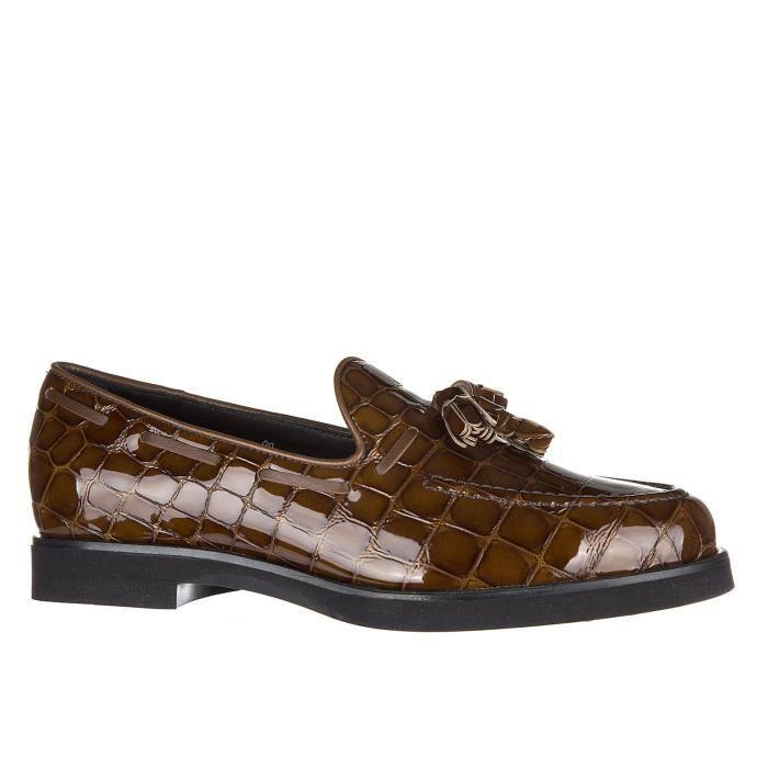 Slip on femme en cuir sneakersgomma rafia fiocco Tod's