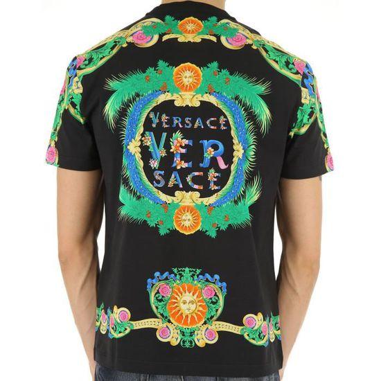 T-shirt Versace A76113 A224831 A708 - Homme Noir NOIR - Achat   Vente t- shirt - Cdiscount 63462a3dd55