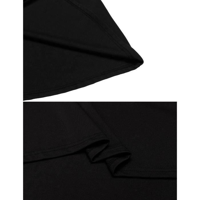 Femmes Robe Styles vintage O-Neckà manches courtes en élastique