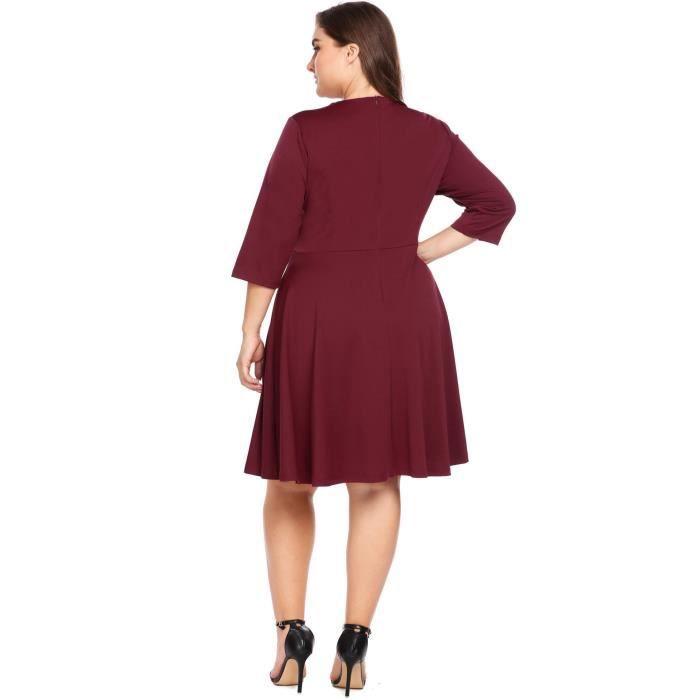 robe à col V balançoire grand format